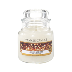 Ароматическая свеча Yankee Candle All is Bright Small Jar Candle (Объем 104 г) all the bright places