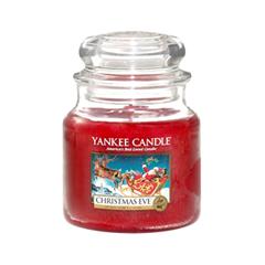 Ароматическая свеча Yankee Candle Christmas Eve Medum Jar Candle (Объем 411 г) свеча корица колонна 80 60 мм фитиль парафиныч