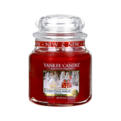 Ароматическая свеча Yankee Candle Christmas Magic Medium Jar Candle (Объем 411 г) santic men cycling jersey 2017 tour de france mtb road bike jersey anti shlip sleeve cuff bicycle top riding shirt cycle clothes