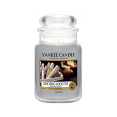 Ароматическая свеча Yankee Candle Crackling Wood Fire Large Jar Candle (Объем 623 г) ароматическая свеча yankee candle soft blanket large jar candle объем 623 г