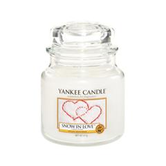 Ароматическая свеча Yankee Candle Snow In Love Medium Jar Candle (Объем 411 г) ковер love of snow