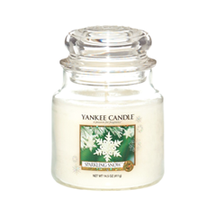 Ароматическая свеча Yankee Candle Sparkling Snow Medium Jar Candle (Объем 411 г) ароматическая свеча yankee candle pink sands medium jar candle объем 411 г