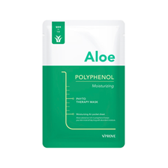Тканевая маска Vprove Phyto Therapy Mask Sheet Aloe Polyphenol Moisturizing (Объем 20 г) тканевая маска vprove phyto therapy mask sheet gingerol skin balancing объем 20 мл