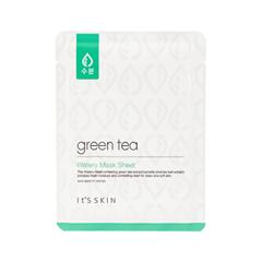 Тканевая маска It's Skin Green Tea Watery Mask Sheet (Объем 17 мл) эмульсия tony moly the chok chok green tea watery essence
