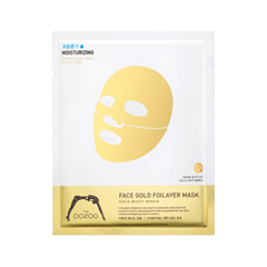 Тканевая маска The Oozoo Face Gold Foilayer Mask (Объем 25 мл) anon маска сноубордическая anon somerset pellow gold chrome