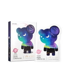 Тканевая маска The Oozoo Набор Bear Aurora Illuminating Mask (Объем 5х(3мл + 24мл)) отшелушивающий гоммаж для сияния кожи muse illuminating gommage шаг 3