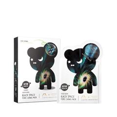 Тканевая маска The Oozoo Набор Bear Black Space Pore Caring Mask (Объем 5х(3 мл+24 мл)) маска a pieu fresh mate peat mask pore clearing 50 мл
