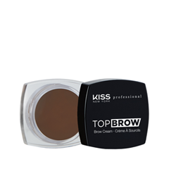 Помада для бровей Kiss New York Professional Top Brow™ Brow Cream 06 (Цвет 06 Ebony variant_hex_name 5C4132) туши maybelline new york тушь для бровей brow precise fiber filler оттенок 06 темно коричневый 7 6 мл