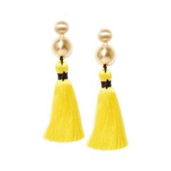Серьги Herald Percy Желтые серьги-кисти с золотистыми шарами