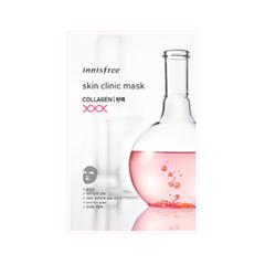 Тканевая маска InnisFree Skin Clinic Mask Collagen (Объем 20 мл) dior универсальное омолаживающее и совершенствующее кожу средство dreamskin perfect skin cushion 20