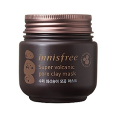 Маска InnisFree Super Volcanic Pore Clay Mask (Объем 100 мл) hot deep pore cleansing clay mask carbonated bubble anti acne moisturizing face mask 100g