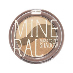 Тени для век SkinFood Mineral Sugar Triple Shadow 03 (Цвет 03 Yellow Khaki variant_hex_name 86918D) missha triple shadow 06 цвет 06 marsala red