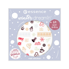 Дизайн ногтей essence Winter Dreamin' Nail Sticker Winter 2018 sticker winter sports