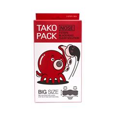 Патчи для носа Nightingale 3 Step Tako Pack Big Size Nose Blackhead Clear Solution маска elizavecca 3 step aqua white water mask pack