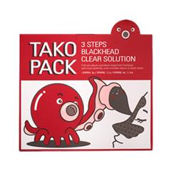 Тканевая маска Nightingale 3 Step Tako Pack Blackhead & Sebum Cleansing Solution маска elizavecca 3 step aqua white water mask pack