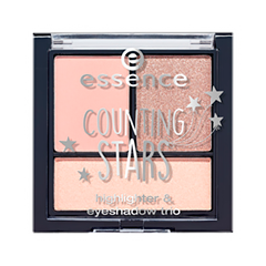 Тени для век essence Counting Stars Highlighter & Eyeshadow Trio 02 (Цвет 02 a sky full of stars variant_hex_name 4C5C80) тени для век essence тени хайлайтер hi lighting eyeshadow mousse 01 цвет 01 hi ivory variant hex name fdece4