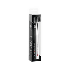 Зубная щетка Curaprox Набор 5460 Duo Ultrasoft White is Black недорого