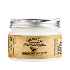 Крем для тела Organic Tai Экстрапитательный крем для тела Папайя, ши и жожоба (Объем 150 мл) organic tai массажное масло для лица жасмин жожоба и сладкий миндаль 120 мл