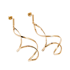 Серьги Exclaim Фигурные серьги-подвески из золотистого металла серьги из медицинского металла