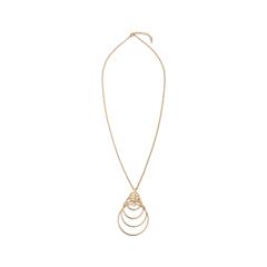Колье Exclaim Колье золотистого цвета из тонкой металлической цепочки кольца exclaim кольцо коллекция classic