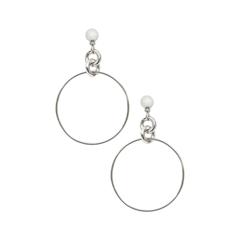 Серьги Exclaim Серьги-кольца из глянцевого серебристого металла серьги из медицинского металла