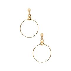 Серьги Exclaim Серьги-кольца из глянцевого золотистого металла серьги из медицинского металла
