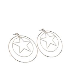 Серьги Exclaim Серьги-кольца из серебристого металла кольца exclaim кольцо коллекция classic