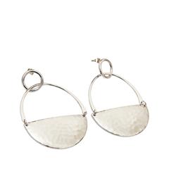 Серьги Exclaim Серьги-кольца из текстурированного металла серебристого цвета кольца exclaim кольцо коллекция classic