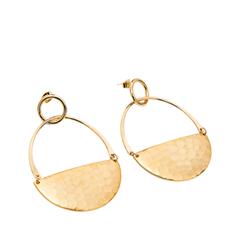 Серьги Exclaim Серьги-кольца из текстурированного металла золотистого цвета кольца exclaim кольцо коллекция classic