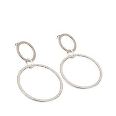 Серьги Exclaim Серьги-кольца из текстурированного металла кольца exclaim кольцо коллекция classic