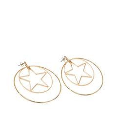 Серьги Exclaim Серьги-кольца из золотистого металла кольца кюз дельта 311439 d