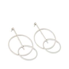 Серьги Exclaim Серьги-подвески из серебристого металла в геометрическом стиле серьги из медицинского металла
