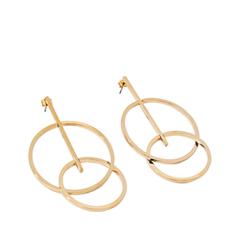 Серьги Exclaim Серьги-подвески из золотистого металла в геометрическом стиле серьги из медицинского металла
