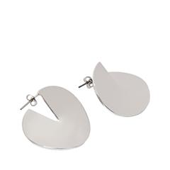 Серьги Exclaim Серьги-пусеты из зеркального металла серебристого цвета серьги exclaim вечерние серьги из металла серебристого цвета