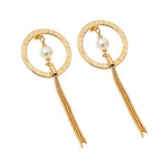 Серьги Exclaim Вечерние серьги-кольца из светло-золотистого металла серьги из медицинского металла