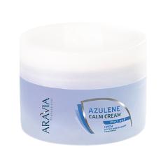 После депиляции Aravia Professional Крем успокаивающий с азуленом Azulene Calm Cream (Объем 200 мл) крем aravia professional azulene calm cream 200 мл
