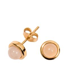 Серьги Exclaim Классические серьги-пусеты из покрытого золотом серебра