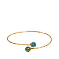 Браслеты Exclaim Незамкнутый браслет из стерлингового серебра и круглыми опалами