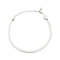 Браслеты Exclaim Серебряный браслет из плоской металлической цепочки