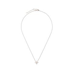 Колье Exclaim Тонкое колье-цепочка из стерлингового серебра, декорированное элементом в форме звезды колье exclaim тонкая серебряная цепочка с элементом