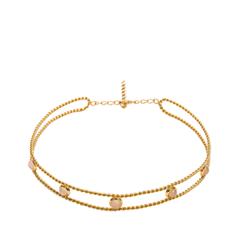 Колье Exclaim Вечернее колье-чокер из стерлингового серебра с золотым покрытием