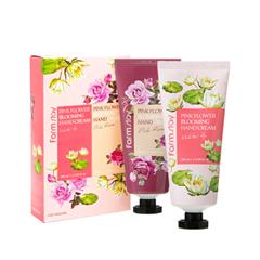 Крем для рук FarmStay Pink Flower Blooming Hand Cream 2 Set (Объем 2*100 мл) крем для рук банан farmstay крем для рук банан