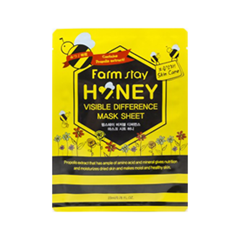 Тканевая маска FarmStay Visible Difference Mask Sheet Honey (Объем 23 мл)
