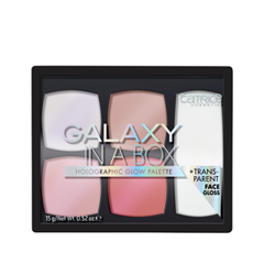 Для лица Catrice Galaxy in a Box Holographic Glow Palette (Цвет 010 Out of Space variant_hex_name D6B6B3) хайлайтер catrice strobe to glow highlighter stick 010 цвет 010 tomorrowland white gold variant hex name efc1ae вес 50 00