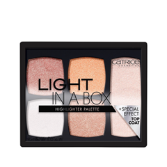 Для лица Catrice Light in a Box Highlighter Palette (Цвет 010 It's Glow Time variant_hex_name DAA79F) хайлайтер catrice strobe to glow highlighter stick 010 цвет 010 tomorrowland white gold variant hex name efc1ae вес 50 00