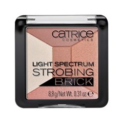 Для лица Catrice Light Spectrum Strobing Brick 010 (Цвет 010 Brown Brilliance variant_hex_name BF8F87) база под макияж isadora strobing fluid highlighter 81