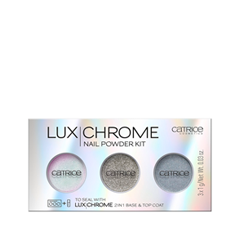 Дизайн ногтей Catrice Набор пигментов для ногтей LuxChrome Nail Powder Kit (Цвет 01 Effect Overlaod variant_hex_name D1CCBD) лаки для ногтей с эффектами catrice chrome infusion nail lacquer 05 цвет 05 enchanted camouflage variant hex name ab7e51
