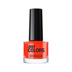 Лак для ногтей Divage Just Colors 37 (Цвет 37 variant_hex_name F85840) лаки для ногтей divage набор 311 лаки для ногтей everlasting g 14 топ покрытие