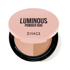 Компактная пудра Divage Luminous Powder Duo 01 (Цвет 01 variant_hex_name B16F3F)