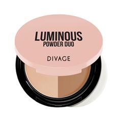 Компактная пудра Divage Luminous Powder Duo 02 (Цвет 02 variant_hex_name 9D6743)